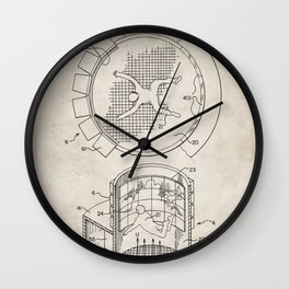 Skydiving Wind Tunnel Patent - Sky Diving Art - Antique Wall Clock