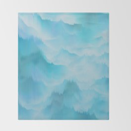 Clouds and mountains. Abstract. Throw Blanket