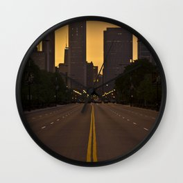 Chicago Sunset Wall Clock