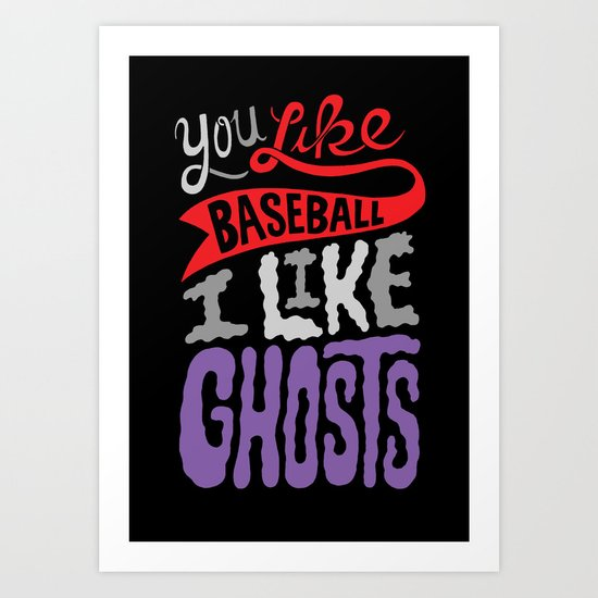 Baseball, Ghosts Art Print