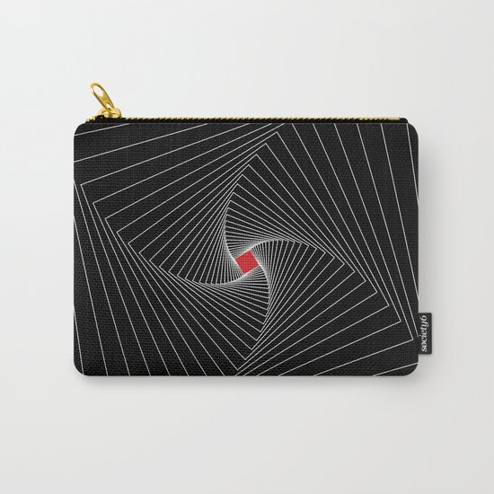White, black, red - Optical Game 26 Carry-All Pouch