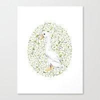 duck Canvas Prints featuring Duck by Erik Krenz
