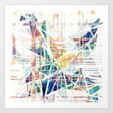 GeoGlitch Art Print