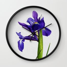 Iris Still Life, Flower Photography Wall Clock
