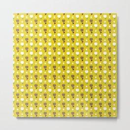 Tiny Tulip Mustard Metal Print