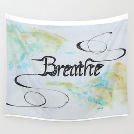 """Breathe"" Minimalist tapestry design Wall Tapestry"