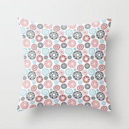 Daisy Doodles 1 Throw Pillow