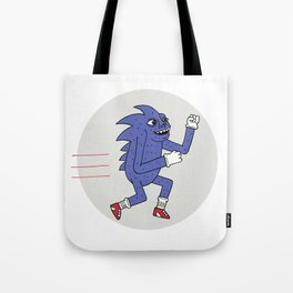 RUNHOG THE SUPERSONIC SPEED PIG Tote Bag