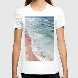 Ocean Print, Beach Sea Print, Aerial Beach Print, Minimalist Print, Beach Photography, Bondi Beach T-shirt