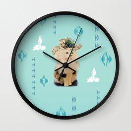 southwest kitty Wall Clock