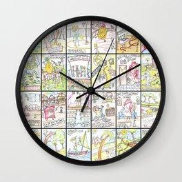 Cartoon collage Wall Clock
