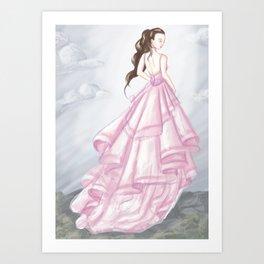 Antique Rose Chiffon Art Print