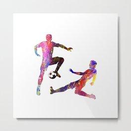 Mens Football Man Avoiding Tackle Quote Art Design Metal Print