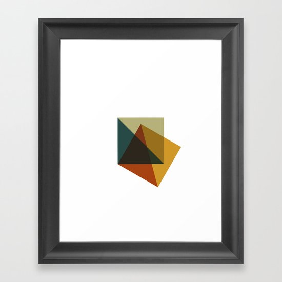 #378 Flag of failure – Geometry Daily Framed Art Print