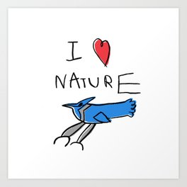 I Heart Nature Art Print