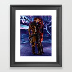 Mass Effect - A meeting in Purgatory Framed Art Print