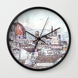 Florence at Dusk from Palazzo Magnani Feroni Wall Clock