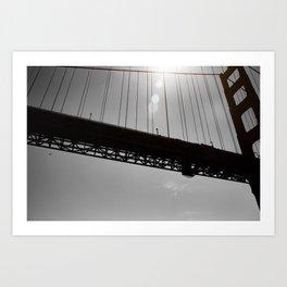Suspension - Golden Gate Bridge in San Francisco Art Print