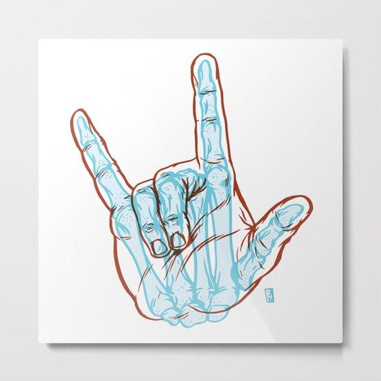 I Love You To Death Metal Print