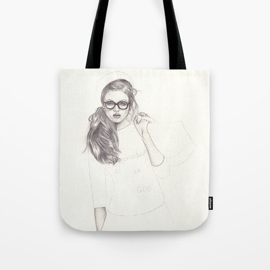 No.6 Fashion Illustration Series Tote Bag