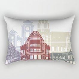 Osijek skyline poster Rectangular Pillow