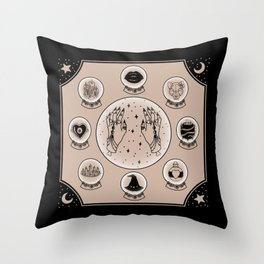 Witch Accessories Throw Pillow