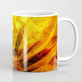 Oriental Blossom Flower yellow orange Ornaments Coffee Mug