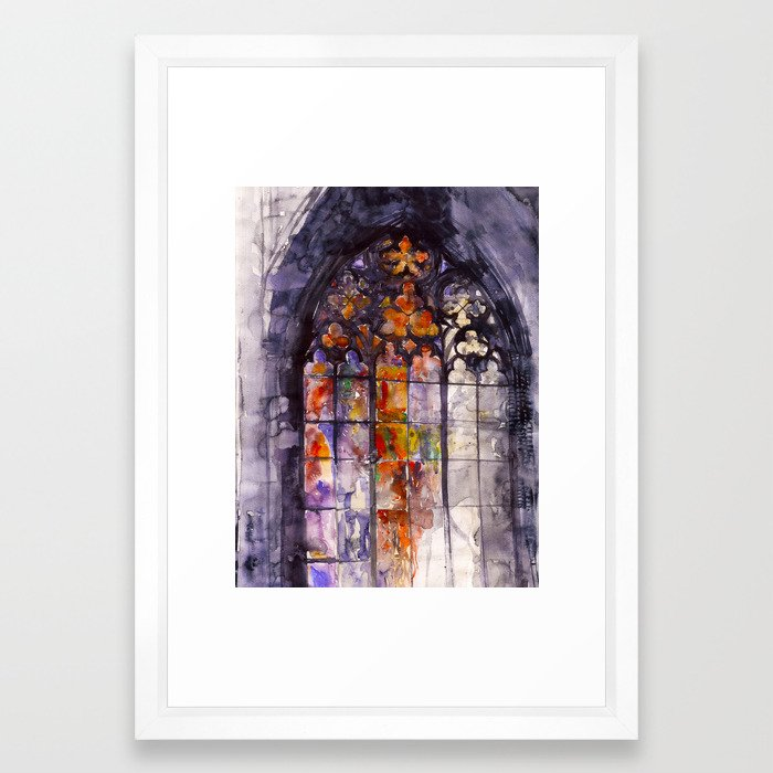 Stained glass Framed Art Print by takmaj | Society6