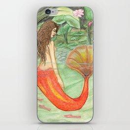 Waterlily Mermaid iPhone Skin