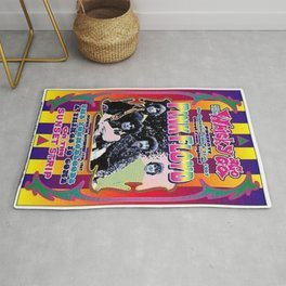 Vintage 1967 Floyd Whisky-A-Go-Go, Los Angeles Concert Poster Rug