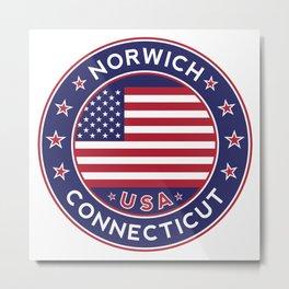 Norwich, Connecticut Metal Print