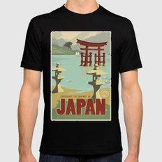 Kaiju Travel Poster Mens Fitted Tee MEDIUM Black
