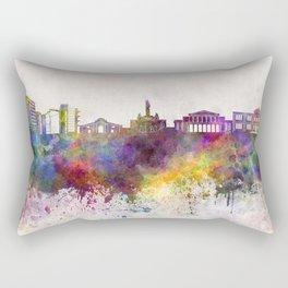 Nicosia skyline in watercolor background Rectangular Pillow