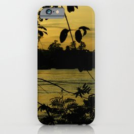 Sunset Nigthfall Mekong River Tropical Jungle iPhone Case