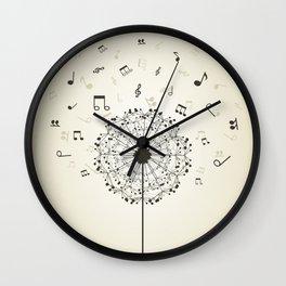 Music a dandelion Wall Clock