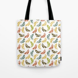 Colorful Leaves, Leaf Pattern - Blue Green Yellow Tote Bag
