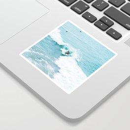 Wave Surfer Turquoise Sticker