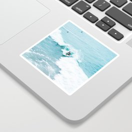 Wave Surfer Turquoise Sticker