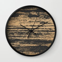 Marble Black Gold - N.O Wall Clock