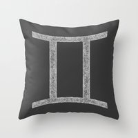 gemini Throw Pillows featuring Gemini by David Zydd - Colorful Mandalas & Abstrac