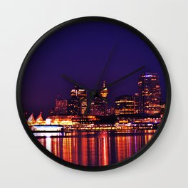 this city, these streets Wall Clock