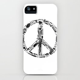 Find Peace (White) iPhone Case