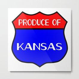 Produce Of Kansas Metal Print