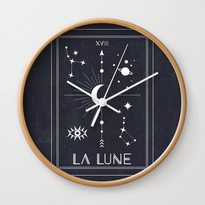 The Moon or La Lune Tarot Wall Clock