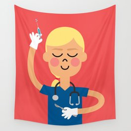 Surgery with a Smile Wall Tapestry