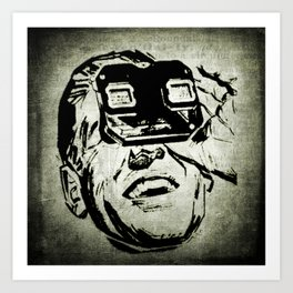 3D glasses vintage Art Print
