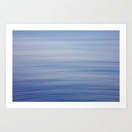 blue motion ocean Art Print