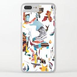 Delirium Analog Collage Clear iPhone Case