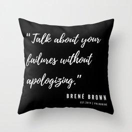 17  | Brené Brown Quotes | 190606 Throw Pillow