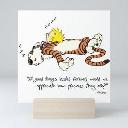 Calvin And Hobbes Quote Mini Art Print
